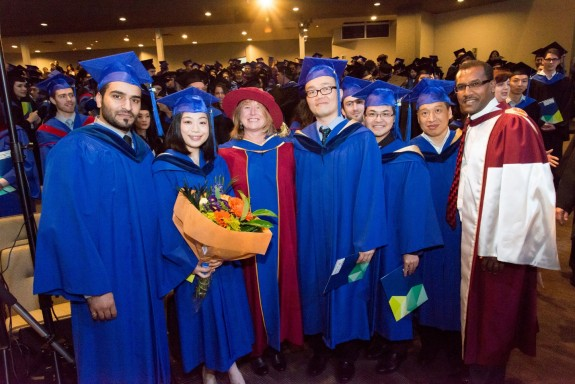 BCIT Master of Applied Science and Master of Engineering in Building Science graduates at convocation ceremony