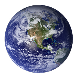 Image of Earth from space showing North America