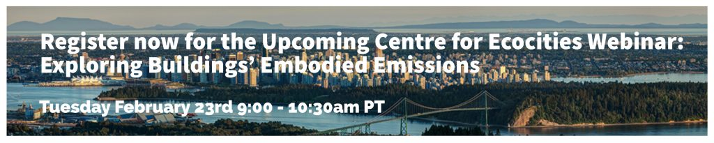 Image for Upcoming webinar Exploring Buildings' Embodied Emissions