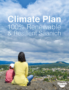 Cover image for the Saanich Climate Plan.