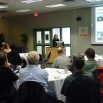 Kristin Miller presents at the workshop.