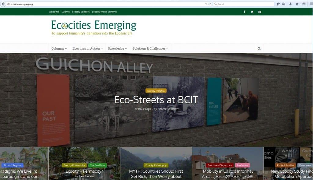 Ecocities Emerging