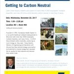 Free Talk: Getting to Carbon Neutral