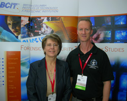 Sheila and Colin in the Forensics booth at IAFN