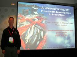 Colin presenting at the IAFN