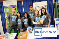 """A group of student volunteers at BCIT""""s Open House"""
