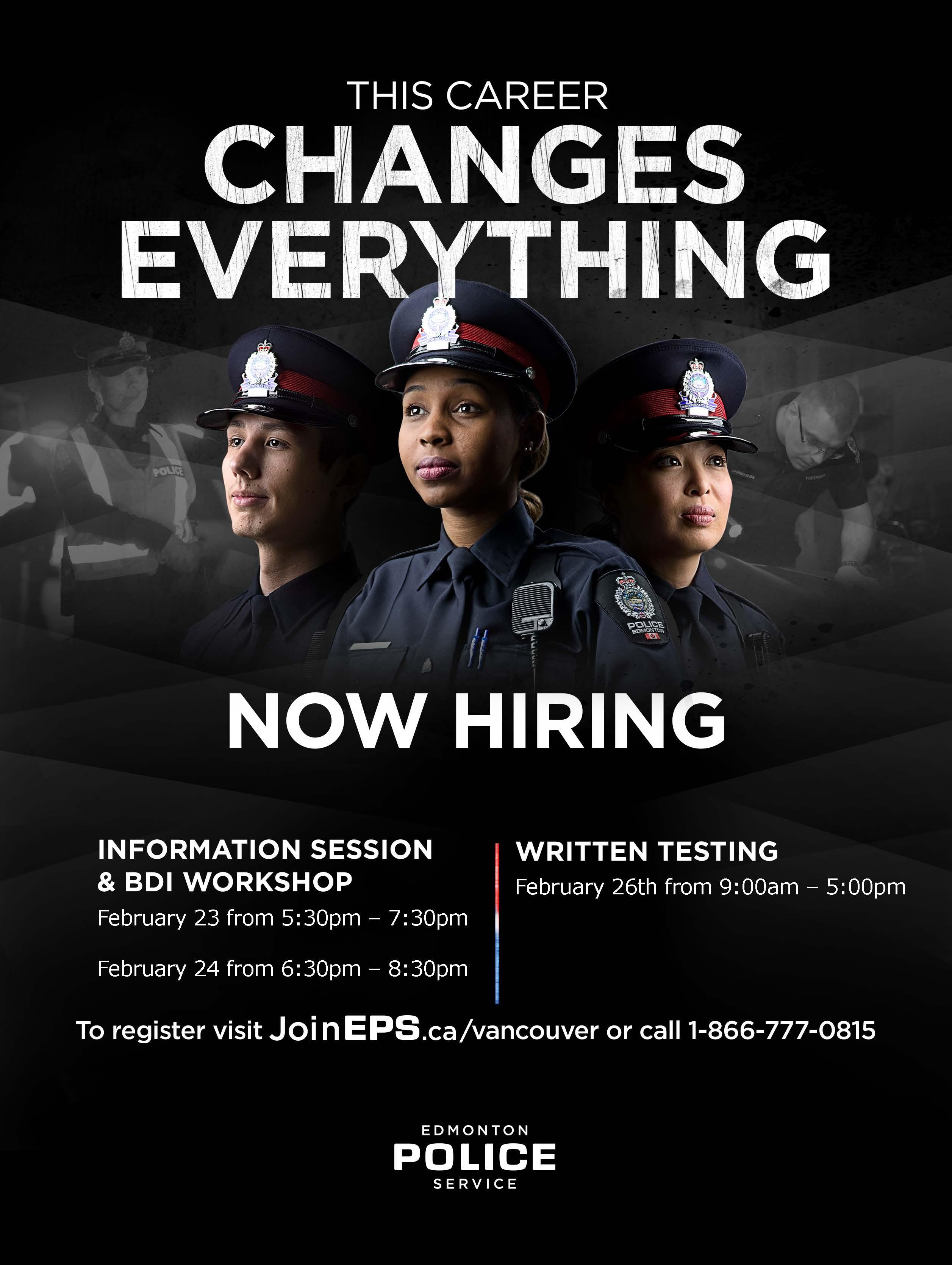 Edmonton Police Service Now Hiring