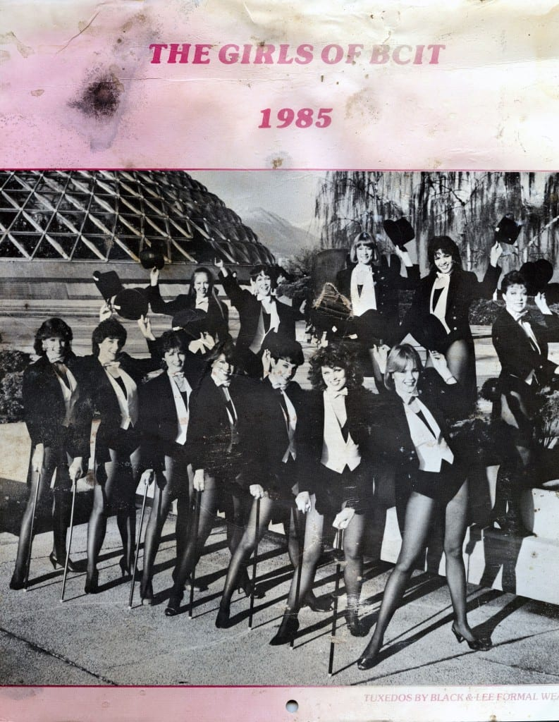 Cleaned-up cover of the The Girls of BCIT 1985 calendar. (photographer, Cindy McLellan)