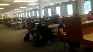 We've added more study space on the main floor - day 3 of the term and it's being well used already...