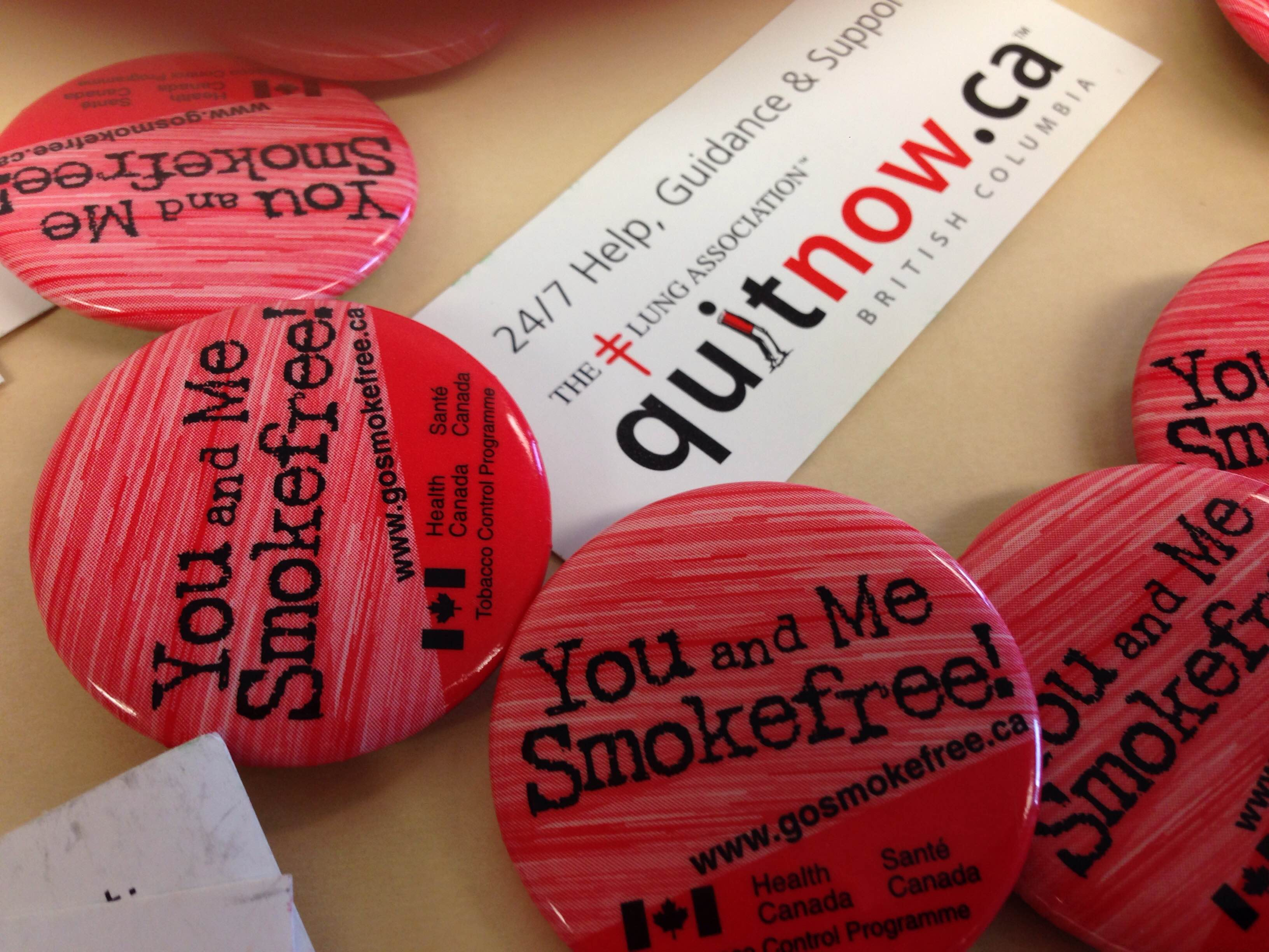 Quit smoking program ephemera from 2008 – does this look dated to anyone else? Photograph by, Cindy McLellan.
