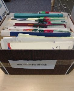 Banker's box of original file folders.