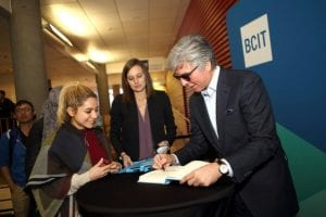 Bill McDermott, CEO of SAP with Studens