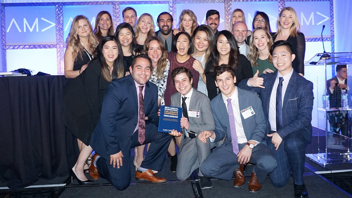 BCIT Marketing Association wins big at the American Marketing Association International Conference