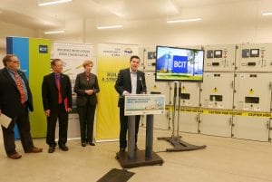Officials gather to announce investment to renew electrical infrastructure at BCIT