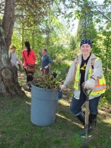 Mae Whyte leading the community in invasive removal