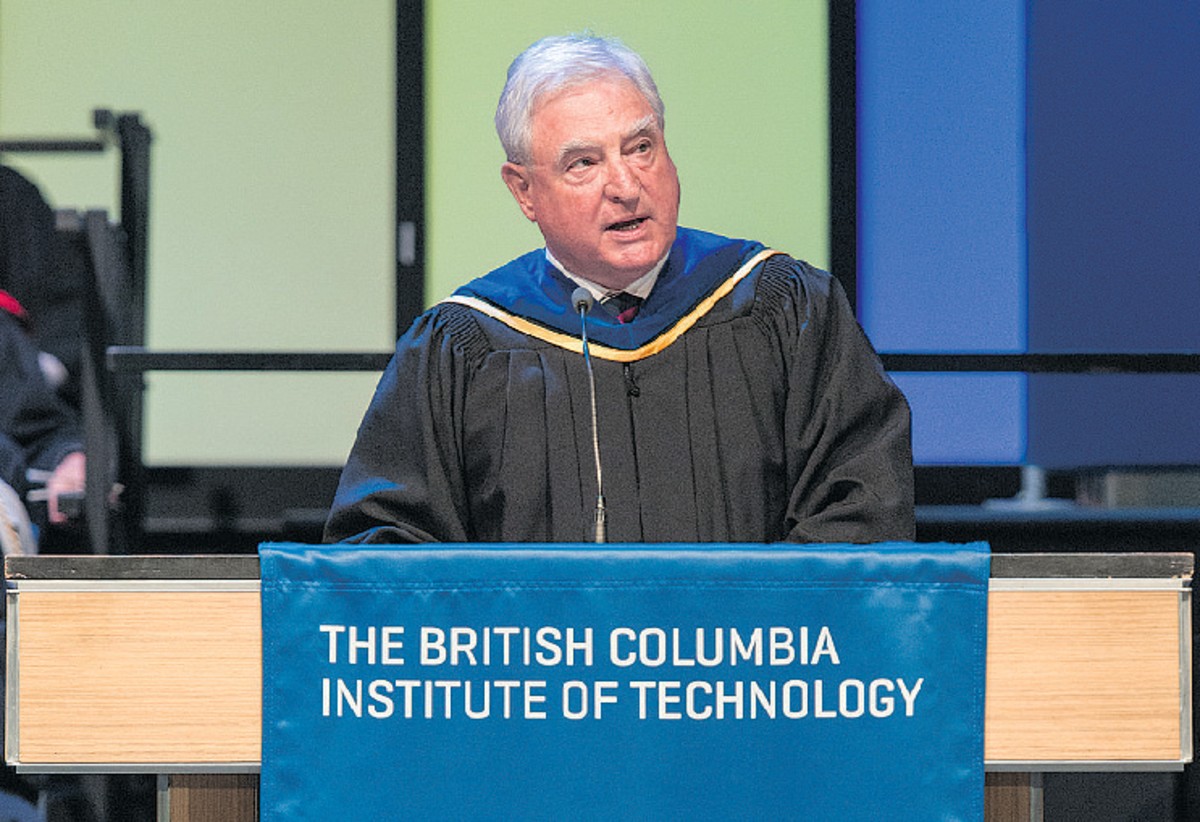 David Emerson at June 2017 BCIT Convocation