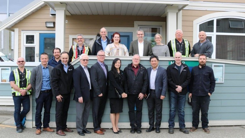 PCL tours the northeast sector of BCITs Burnaby Campus.