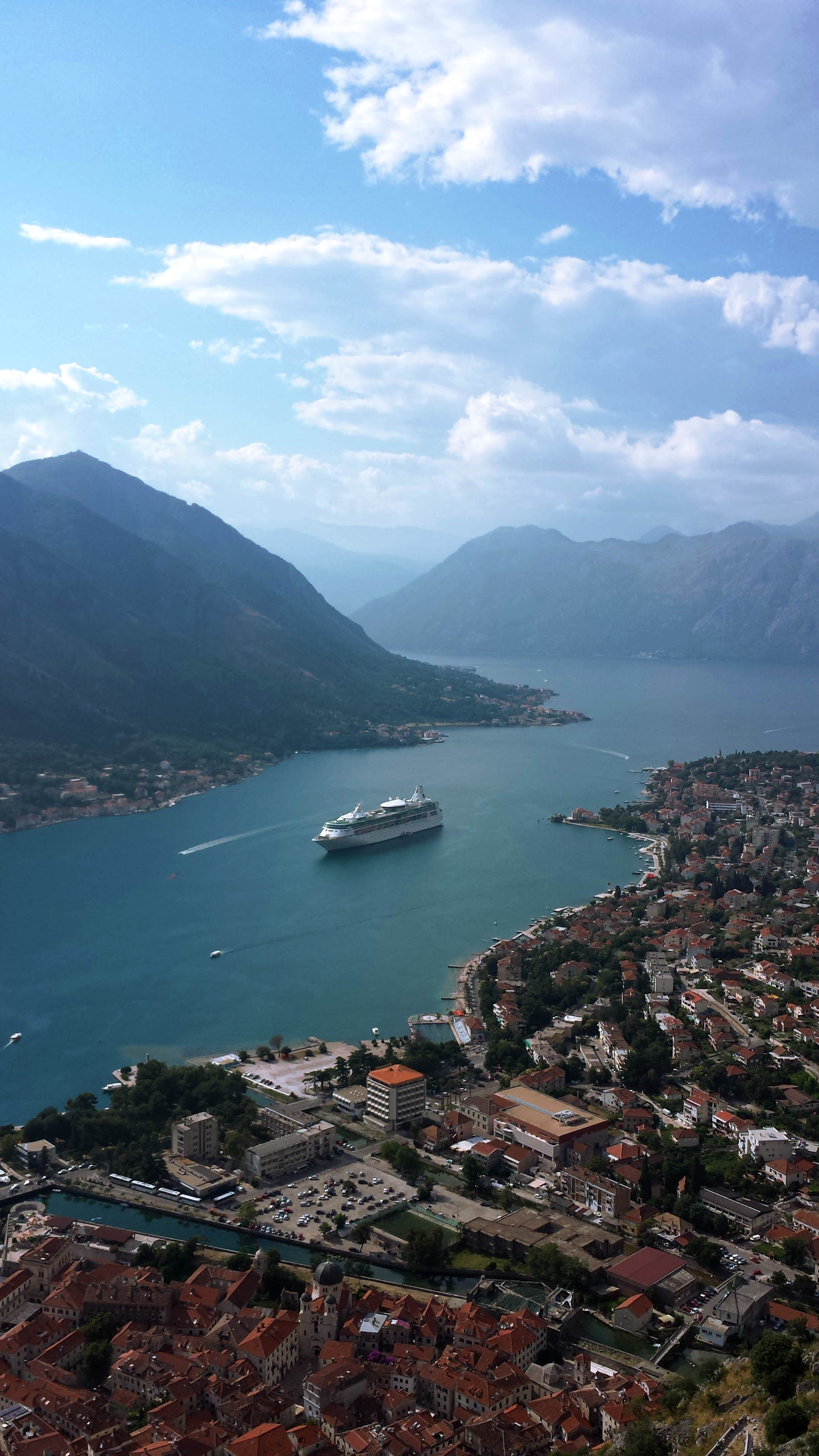 Vision of the Seas anchored in Kotor, Montenegro,