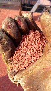 Potash cargo sample