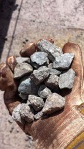 Sample of rock cargo