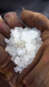 Sample of salt cargo.