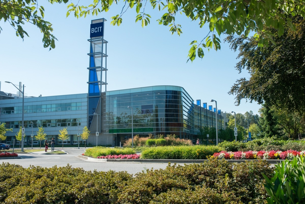 BCIT Burnaby campus in spring.