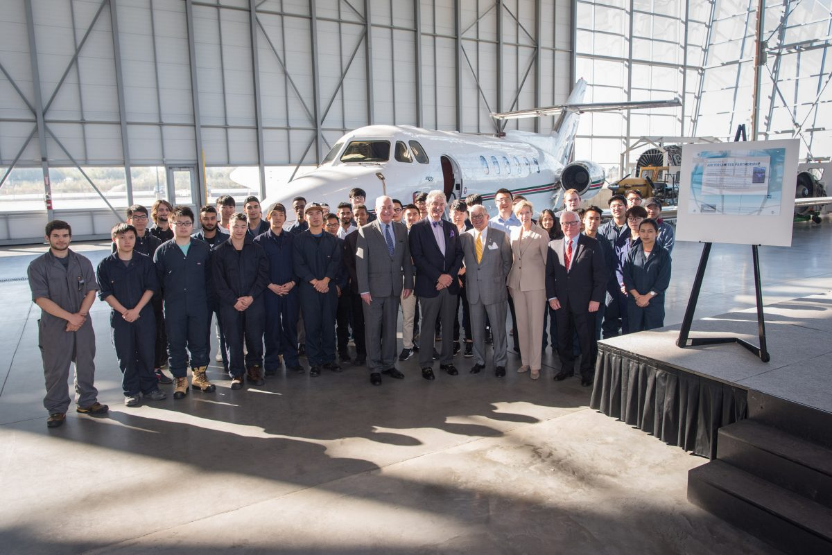 Hawker Jet donation at the ATC campus