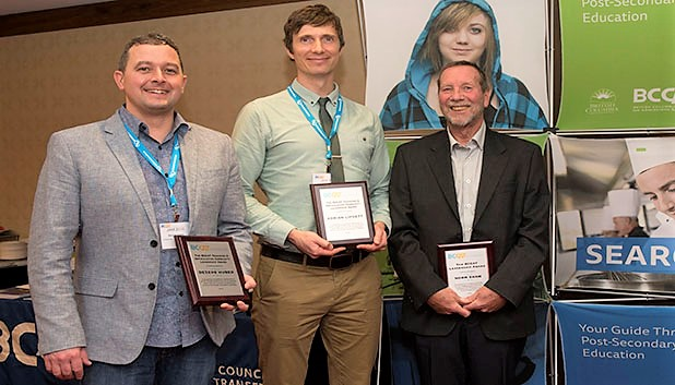 BCIT Faculty Rick Chester and former Instructor Norm Shaw wins leadership award