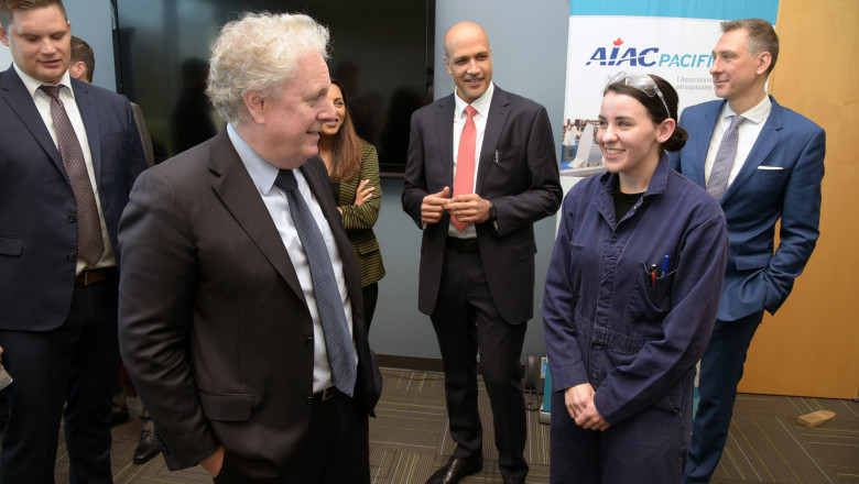 A roundtable with Jean Charest at BCIT Aerospace Technology Campus
