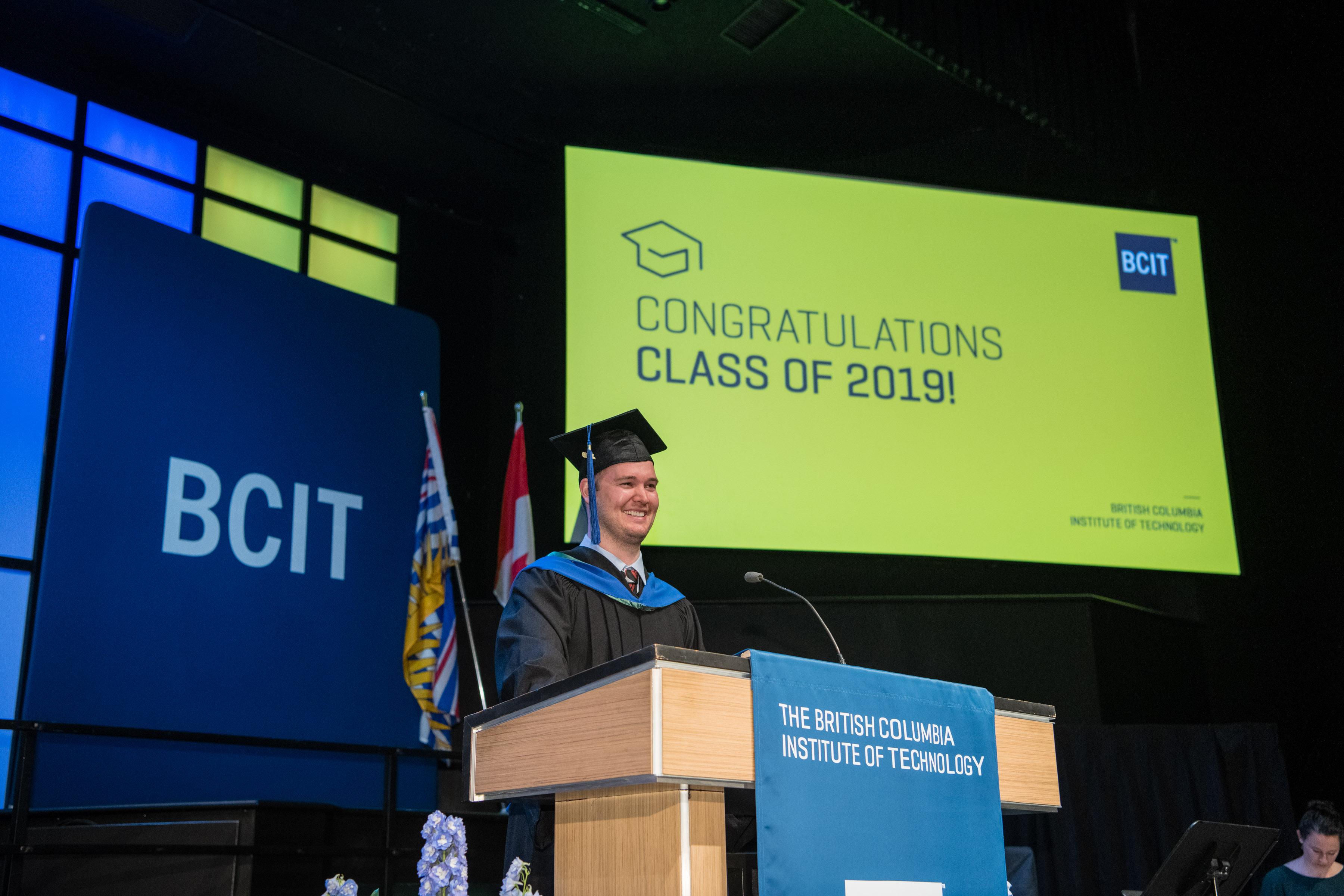 BCIT Valedictorian Nic Johnson