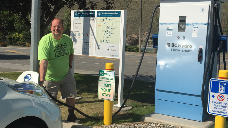 EV fast-charging station in Cache Creek