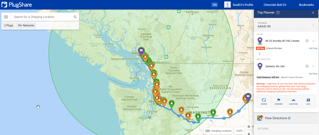 BCIT-Tips for traveling long distance with an EV