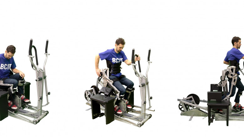 BCIT designs AAPLEwalk, an exercise machine for people with disabilities