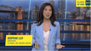 Global BC News Hour anchor and BCIT alumna Sophie Lui