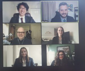 A screenshot of the BCITMA Case Team on Zoom before the presentation to the PODS Moving & Storage marketing team