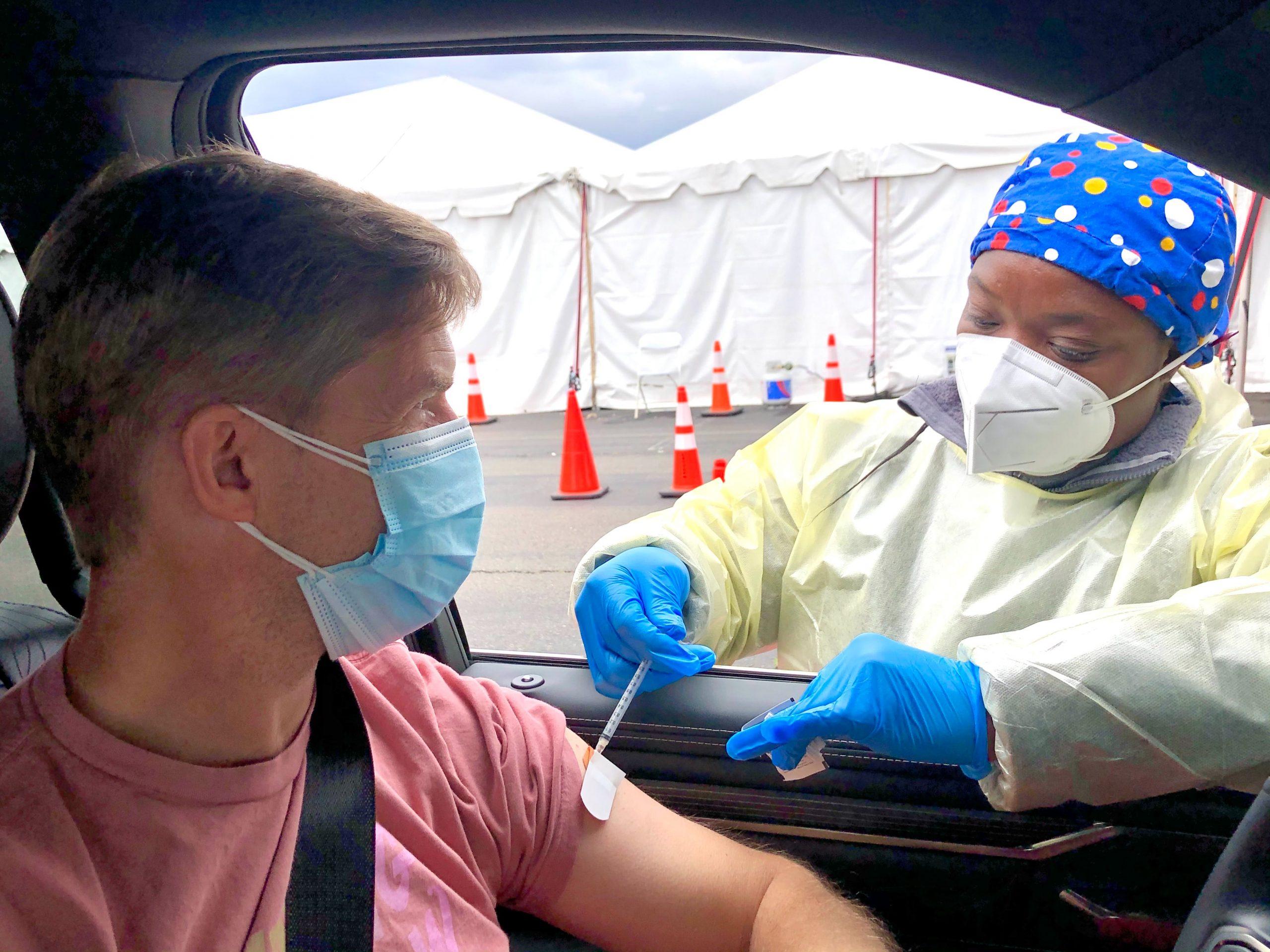 Drive through vaccination