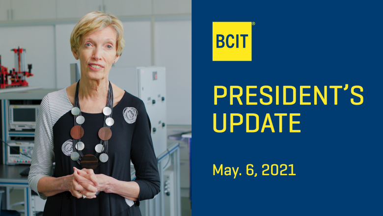 Kathy Kinloch in the digital transformation centre on the BCIT campus